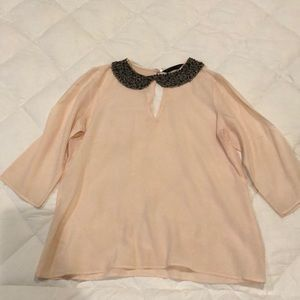 Zara Studded Collar Blouse